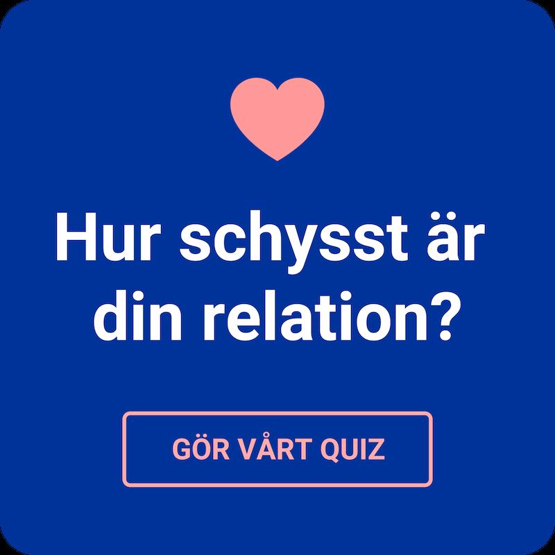 Testa dig själv: Hur schysst är din relation?