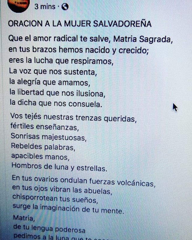 Oración a la mujer salvadoreña  #elsalvador #elsalvador🇸🇻 #elpulgarcito #diainternacionaldelamujer