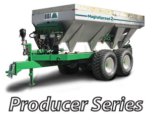 MagnaSpread2 Pull-Type - BBI MagnaSpread2 Pull-Type - Patented - Three Independent Hoppers - with Independent Variable Rate - Fertilizer Lime Spreader. Ideal for Precision Dry Material Application - Advanced Technology for the most sophisticated farmer! MagnaSpread2 is designed to keep up with the latest advancements in prescribed, guided, variable rate nutrient application.