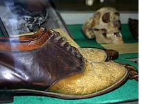 Shoes made from human leather