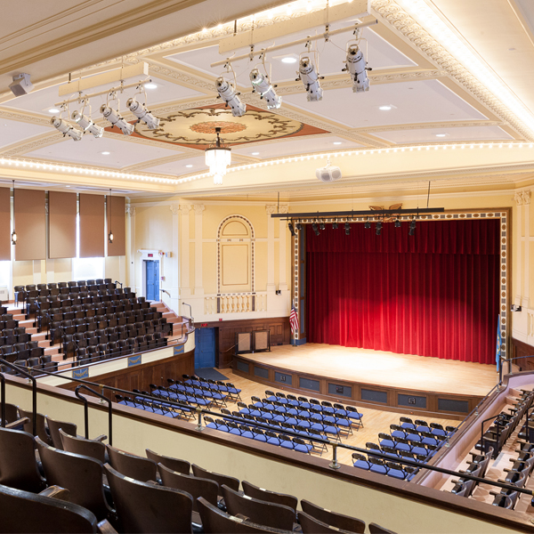 """1605 Massachusetts Ave, Lexington, MA 02420 - 822 max cap  Recently completely restored New England """"Town Hall""""-style venue in a wealthy suburb of Boston. This venue caters to the Greater Boston media market and it located 15 miles northwest of Boston.  Venue Site  