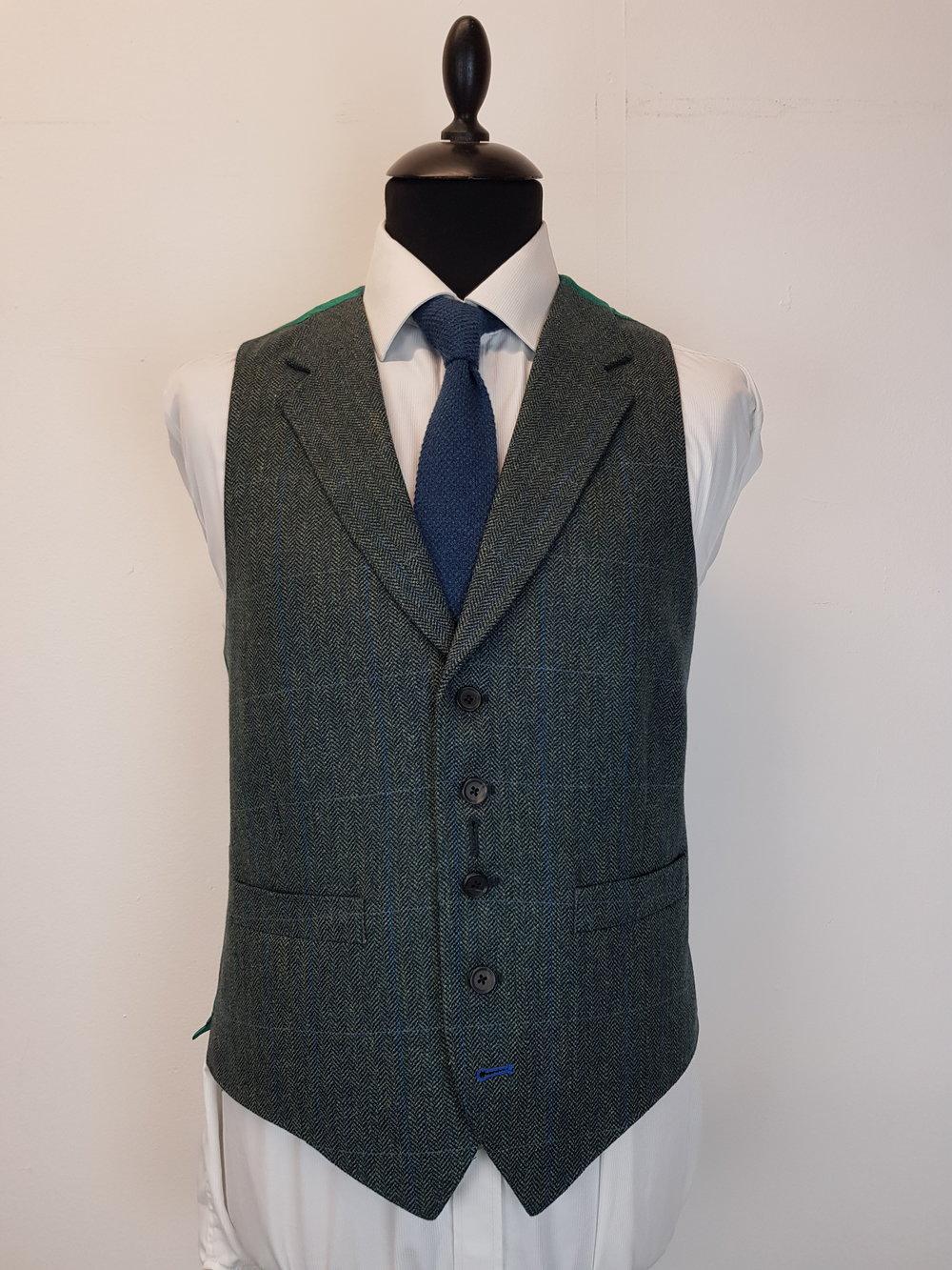 3 Piece Herringbone and check tweed suit (2).jpg