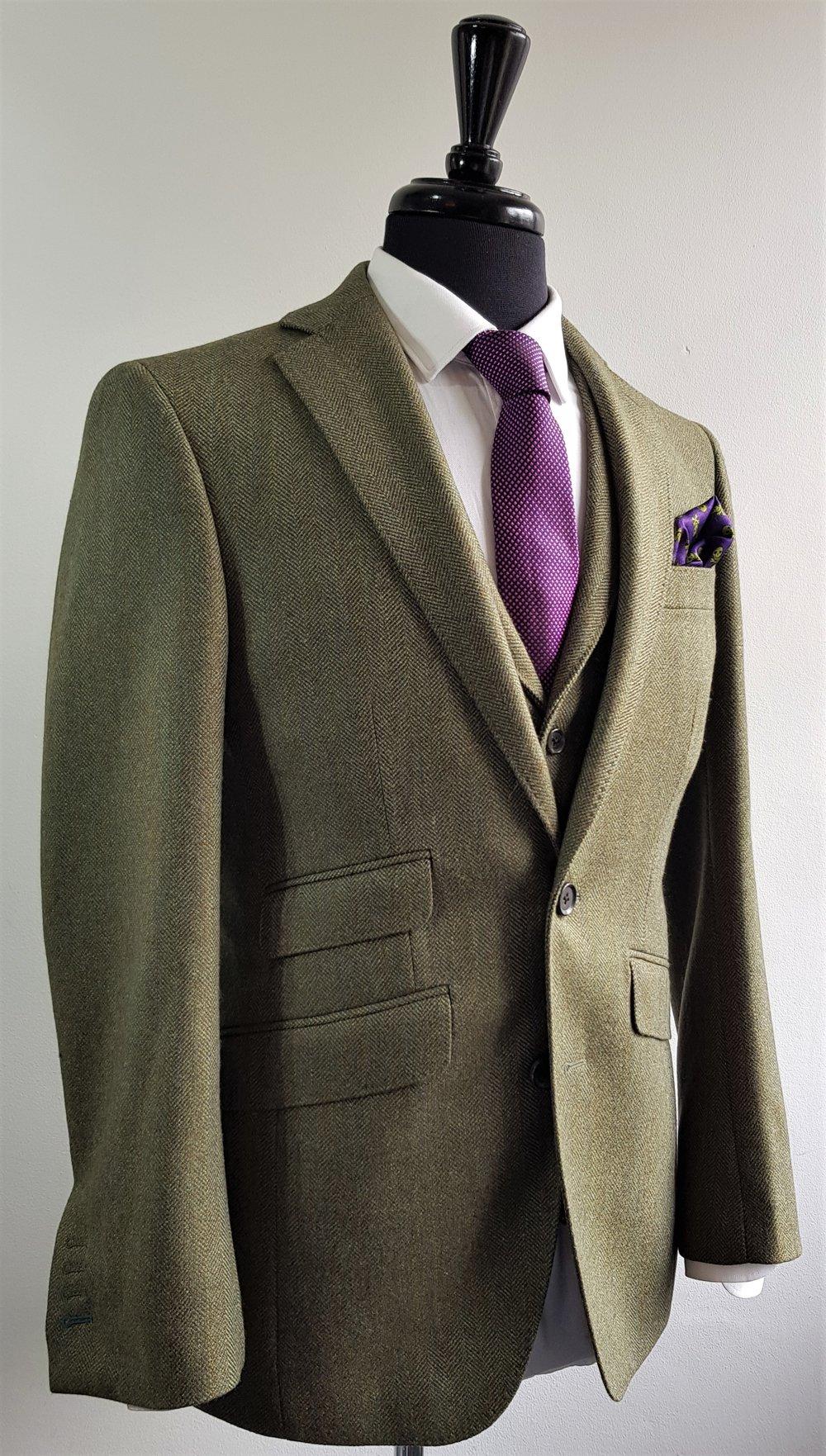 Green herringbone 3 piece tweed suit (10).jpg