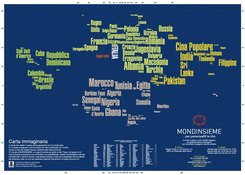 Mappa nuovi cittadini di Reggio Emilia   per winston wolf - la miglior soluzione - 2001