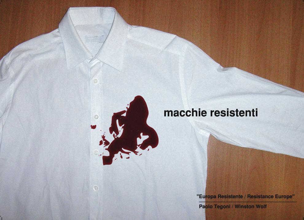 """contest grafico """"Europa resistente""""   per winston wolf - la miglior soluzione - 2003"""
