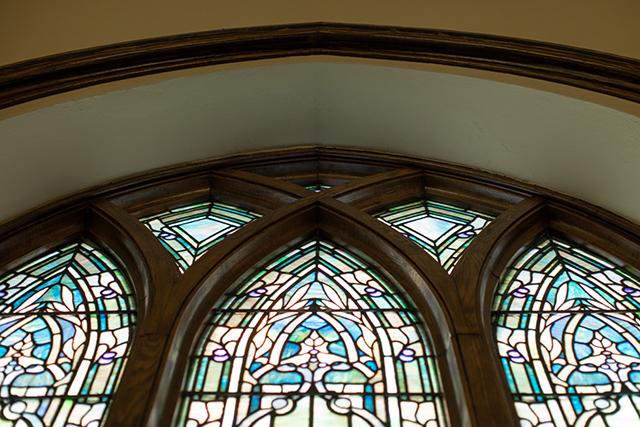 restored stain glass windows