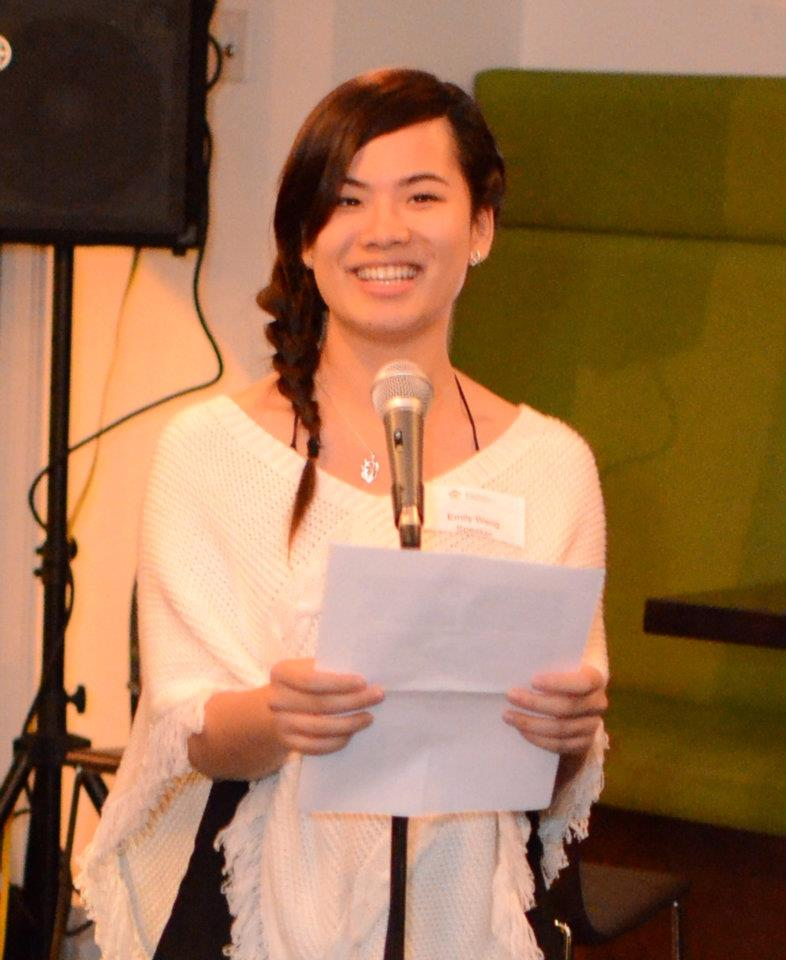 Yanyi shares her story at a BCNC event.