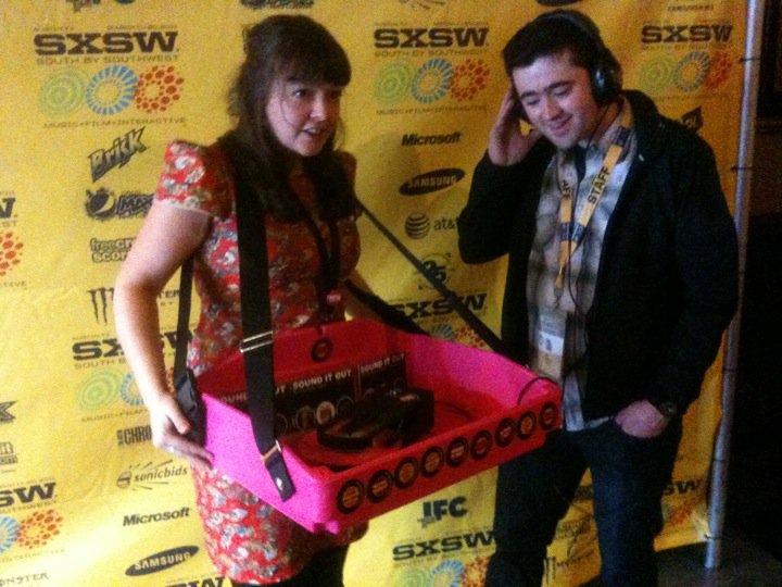 PMD Sally with SXSW programmer Jim Kolmar