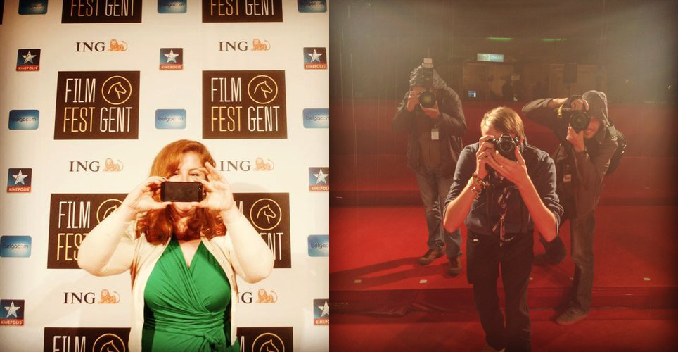 Jeanie on the Film Fest Gent red carpet