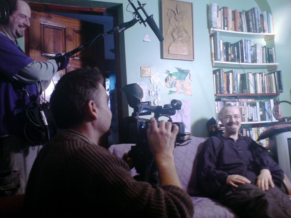 Filming Ian at home, Wales