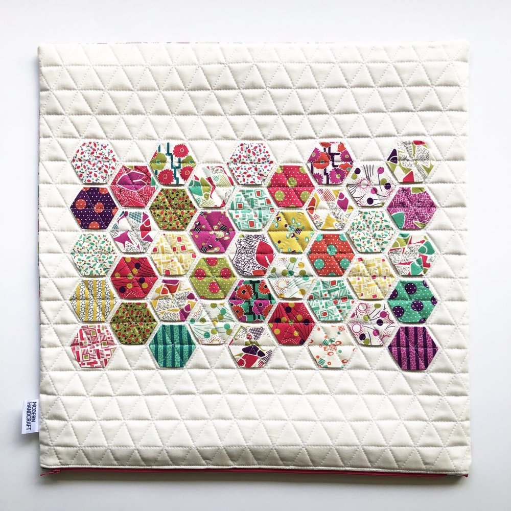 Modern Handcraft // Hexie Pillows for Moda