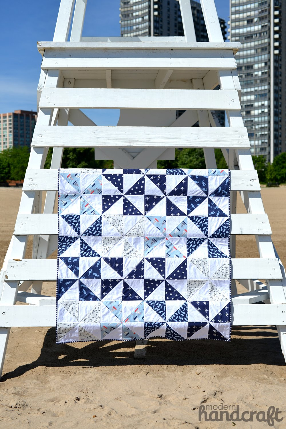 Pinwheel Beach Quilt - Modern Handcraft for Dear Stella // A Tutorial