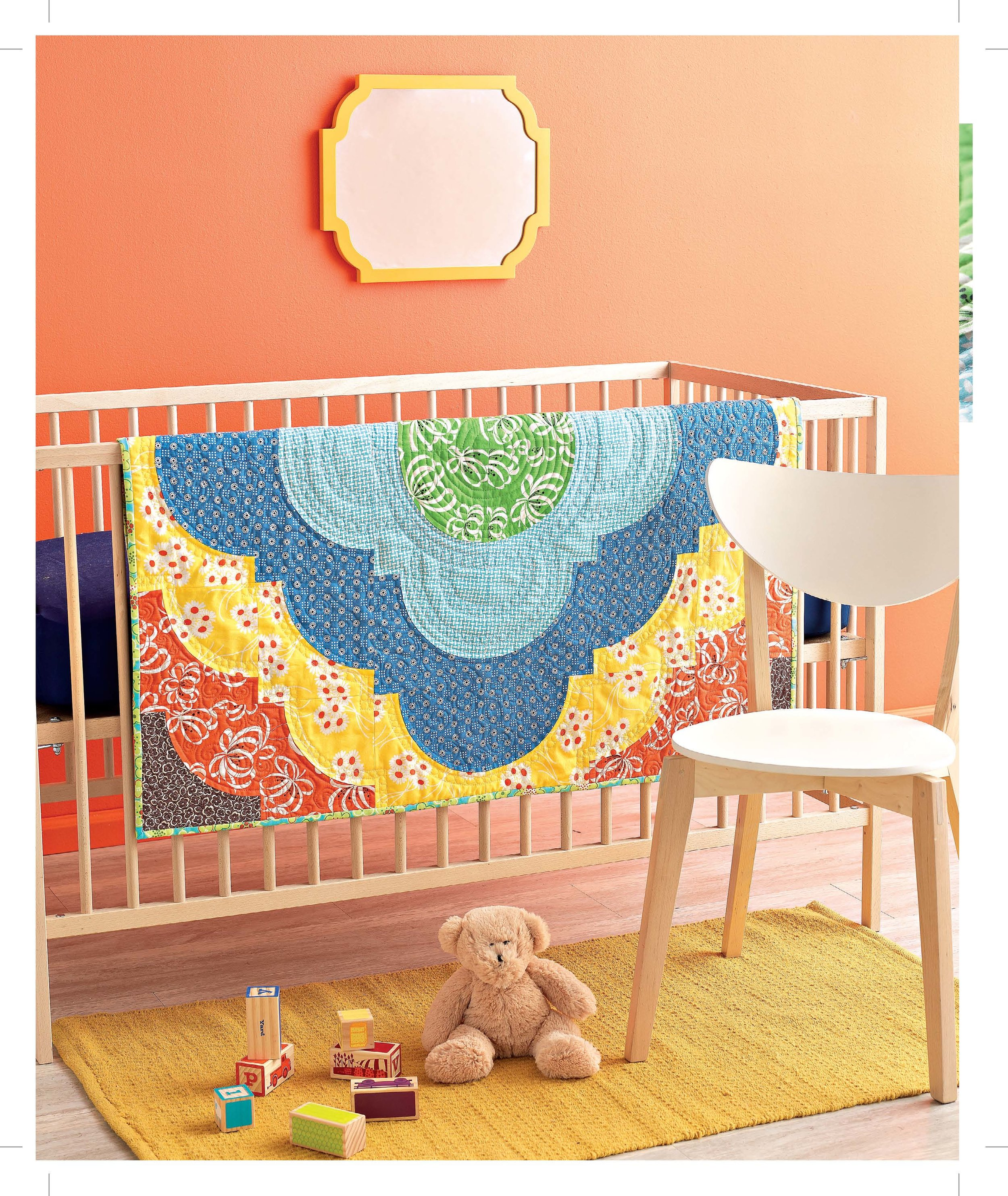 A Quilter's Mixology - Medallion Baby Quilt
