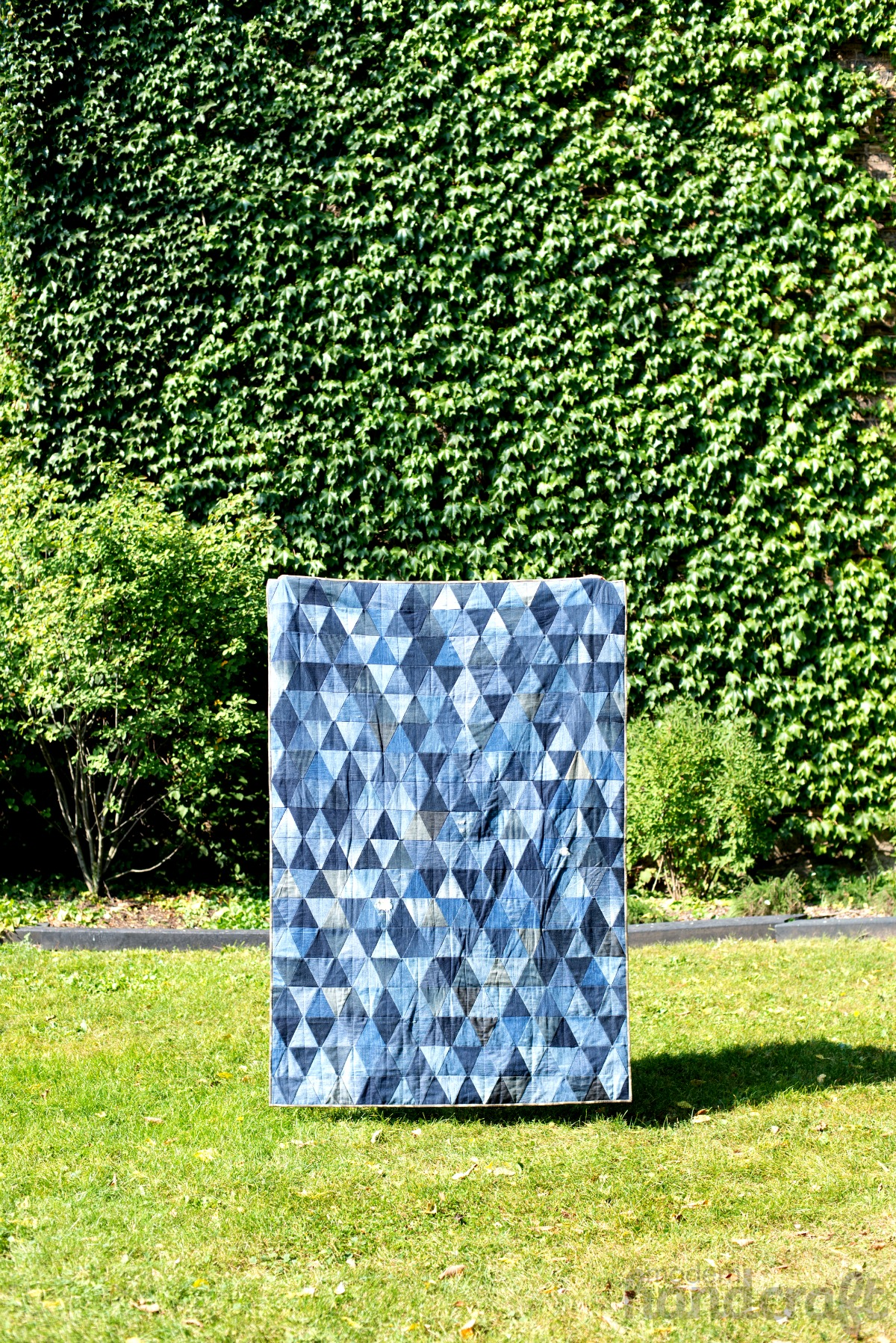 Modern Handcraft // Denim Triangle Quilt
