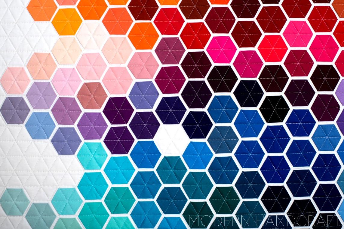 Modern Handcraft - Geometric Rainbow // Bloggers Quilt Festival