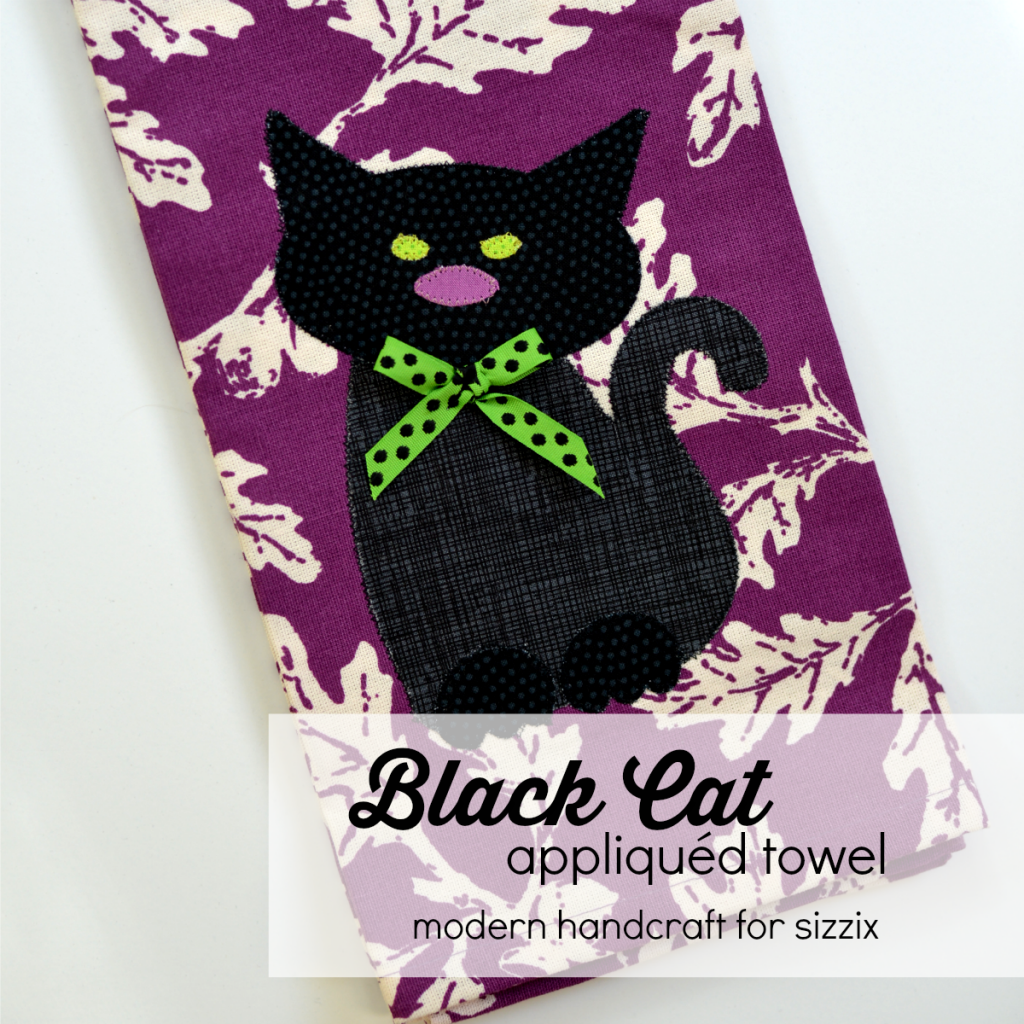 Modern Handcraft // Black Cat Applique Towel Tutorial