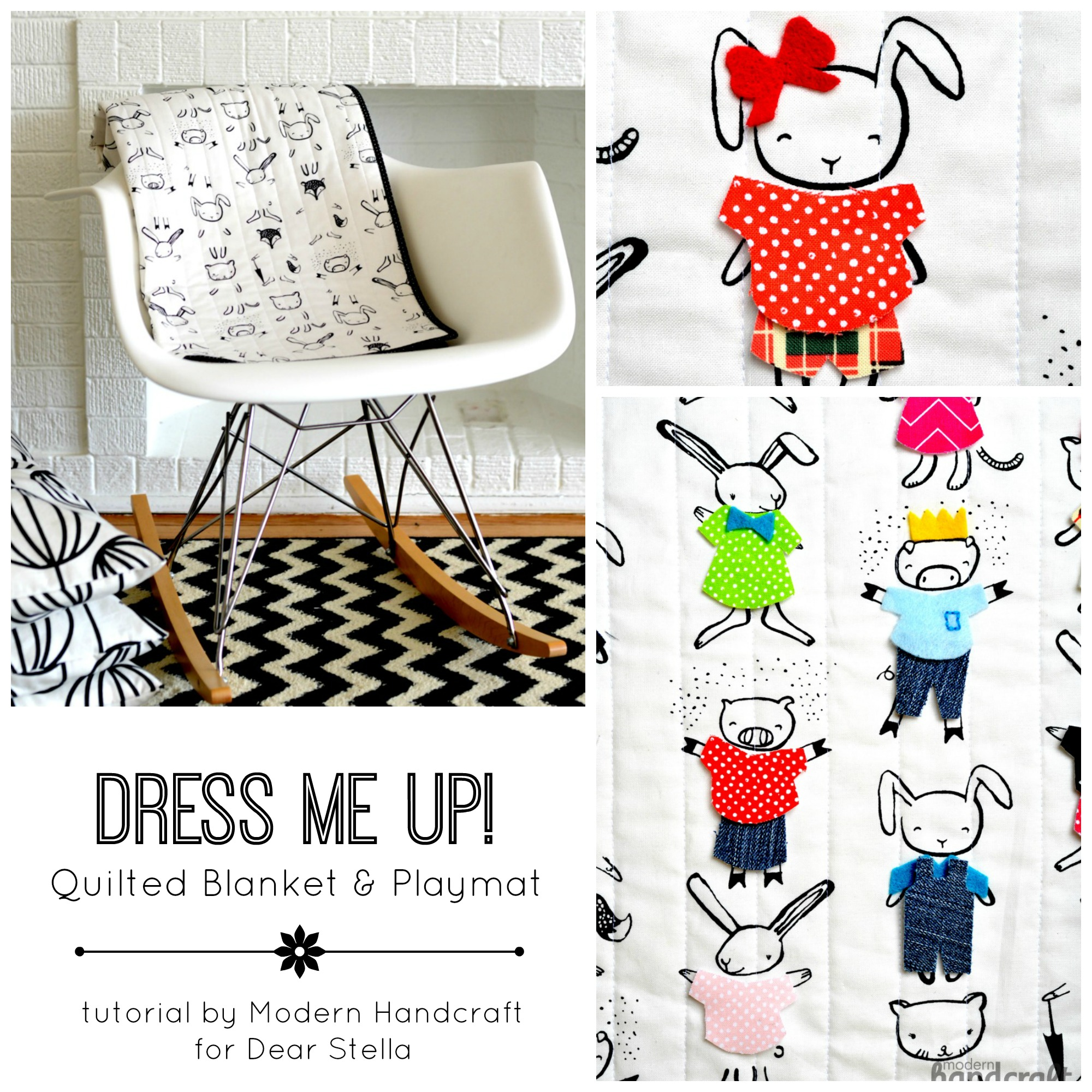 Modern Handcraft // Dress Me Up Playmat Tutorial