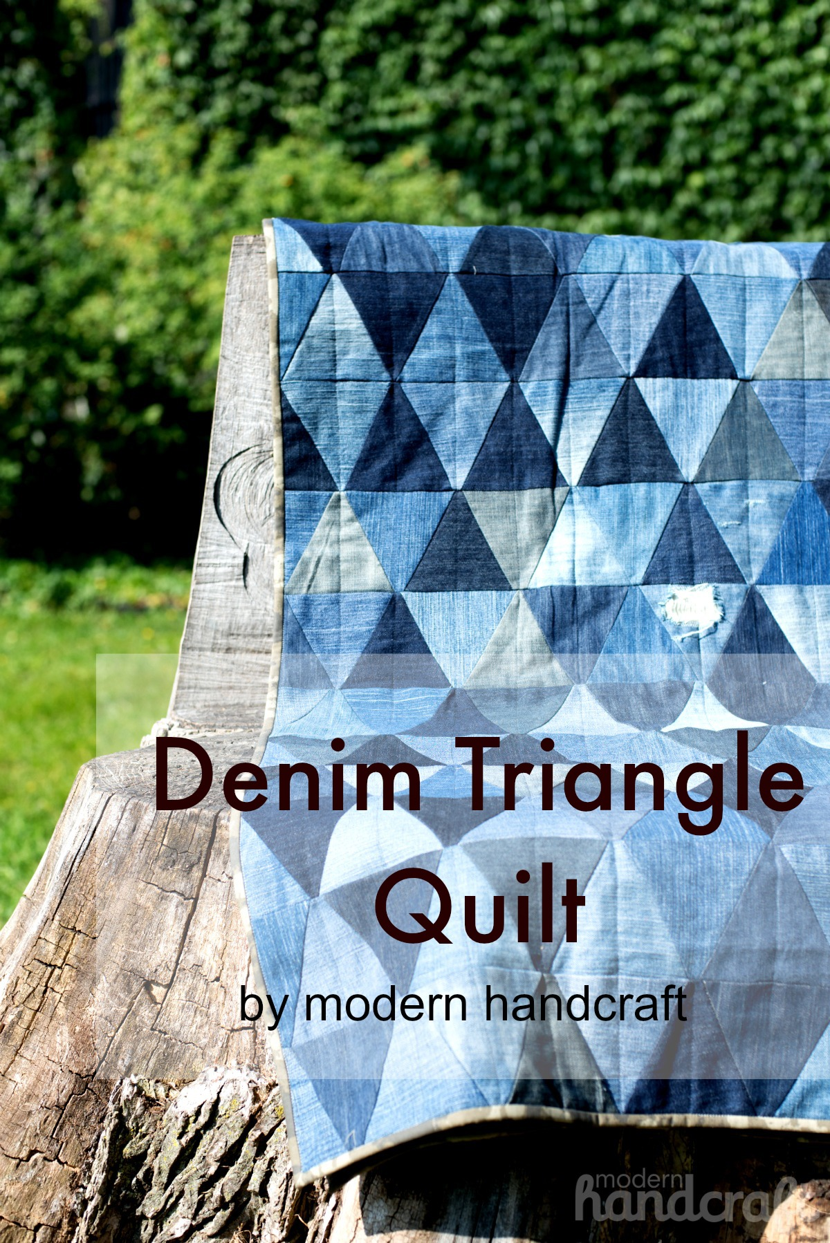 Modern Handcraft // Denim Triangle Quit