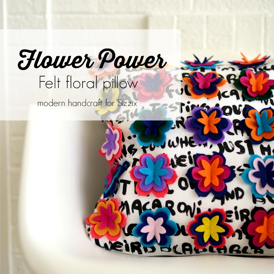 Modern Handcraft // Flower Power Felt Flower Pillow Tutorial