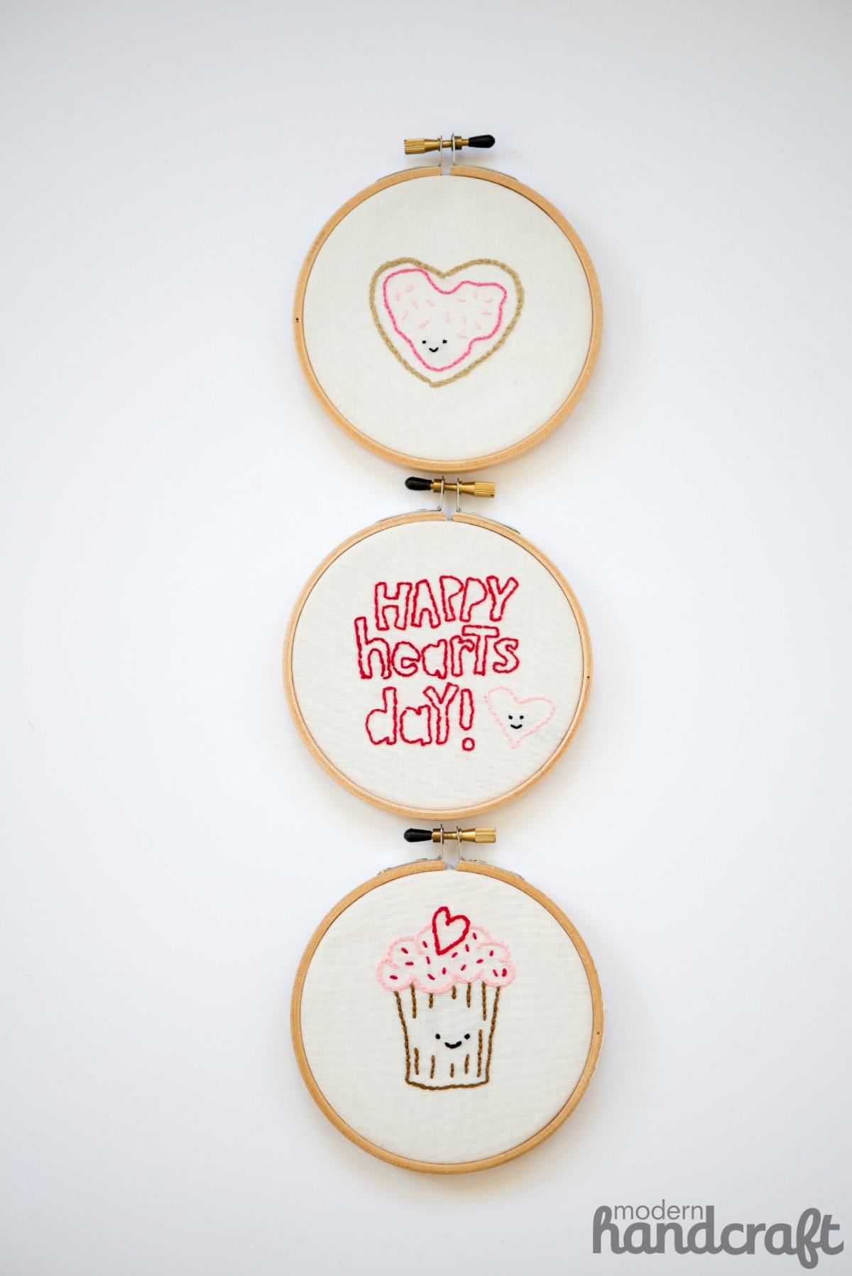 Modern Handcraft // Valentines Day embroidery - Wild Olive