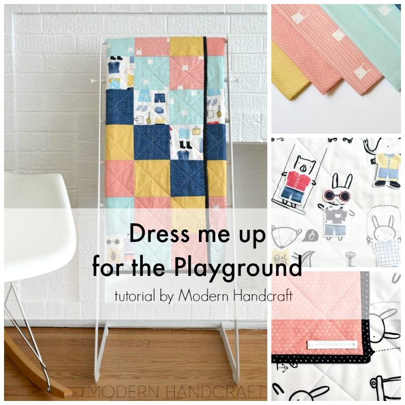 Modern Handcraft for Dear Stella // Dress me up for the playground tutorial