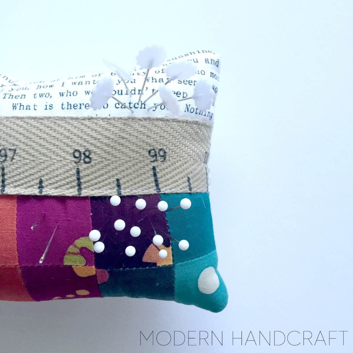 Modern Handcraft: Pretty Pincushion Sew Along with FQS