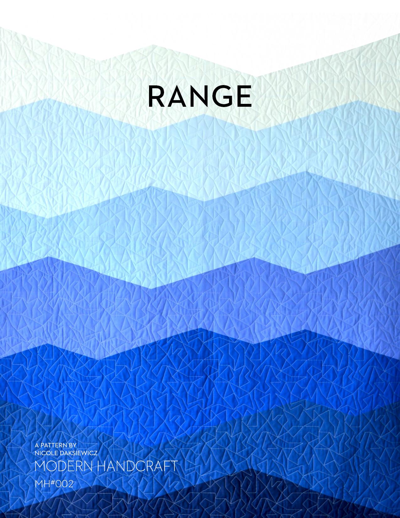 Modern Handcraft // Range Quilt PDF Pattern