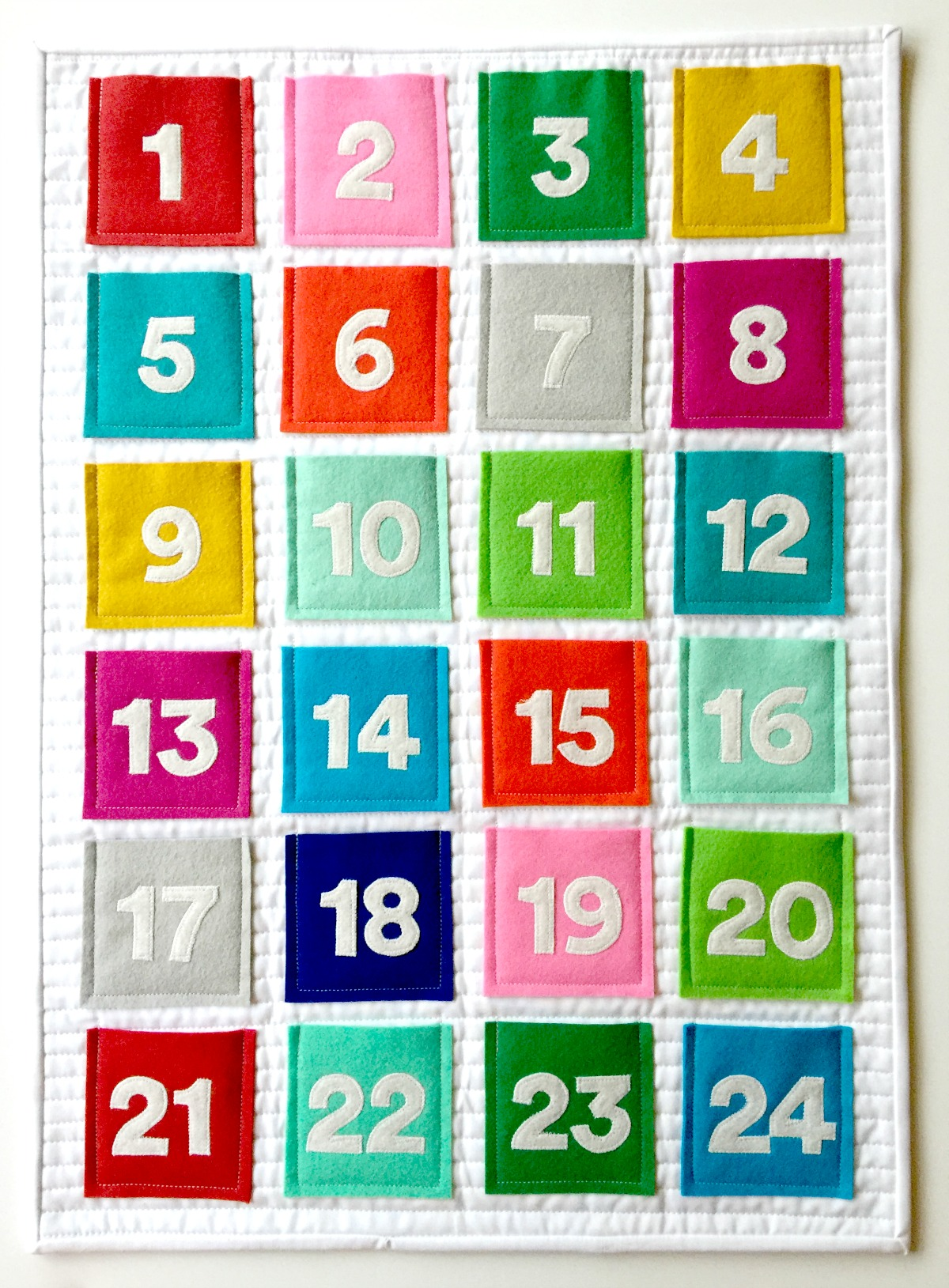 Quilted Felt Advent Calendar Tutorial // Modern Handcraft for Janome America