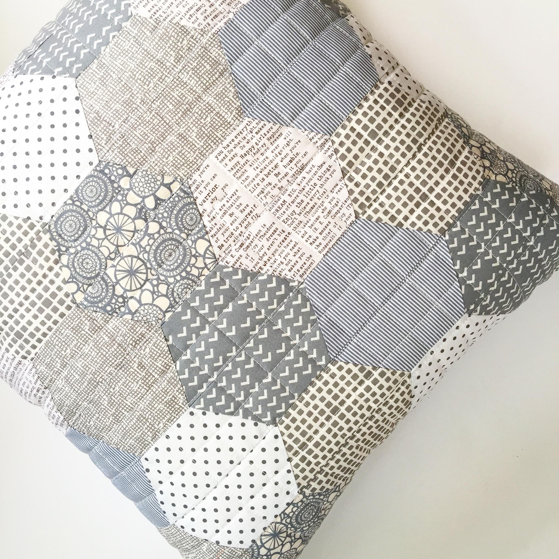 Scrappy Hexagon Pillow / 2015