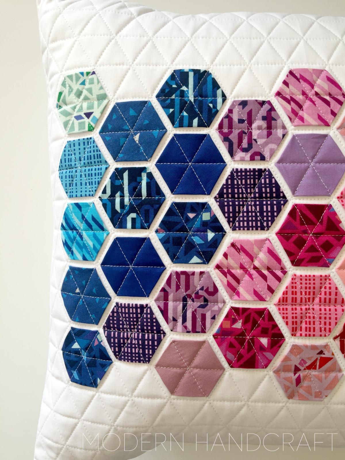 Modern Handcraft // Geogram blog hop - Lecien Fabrics