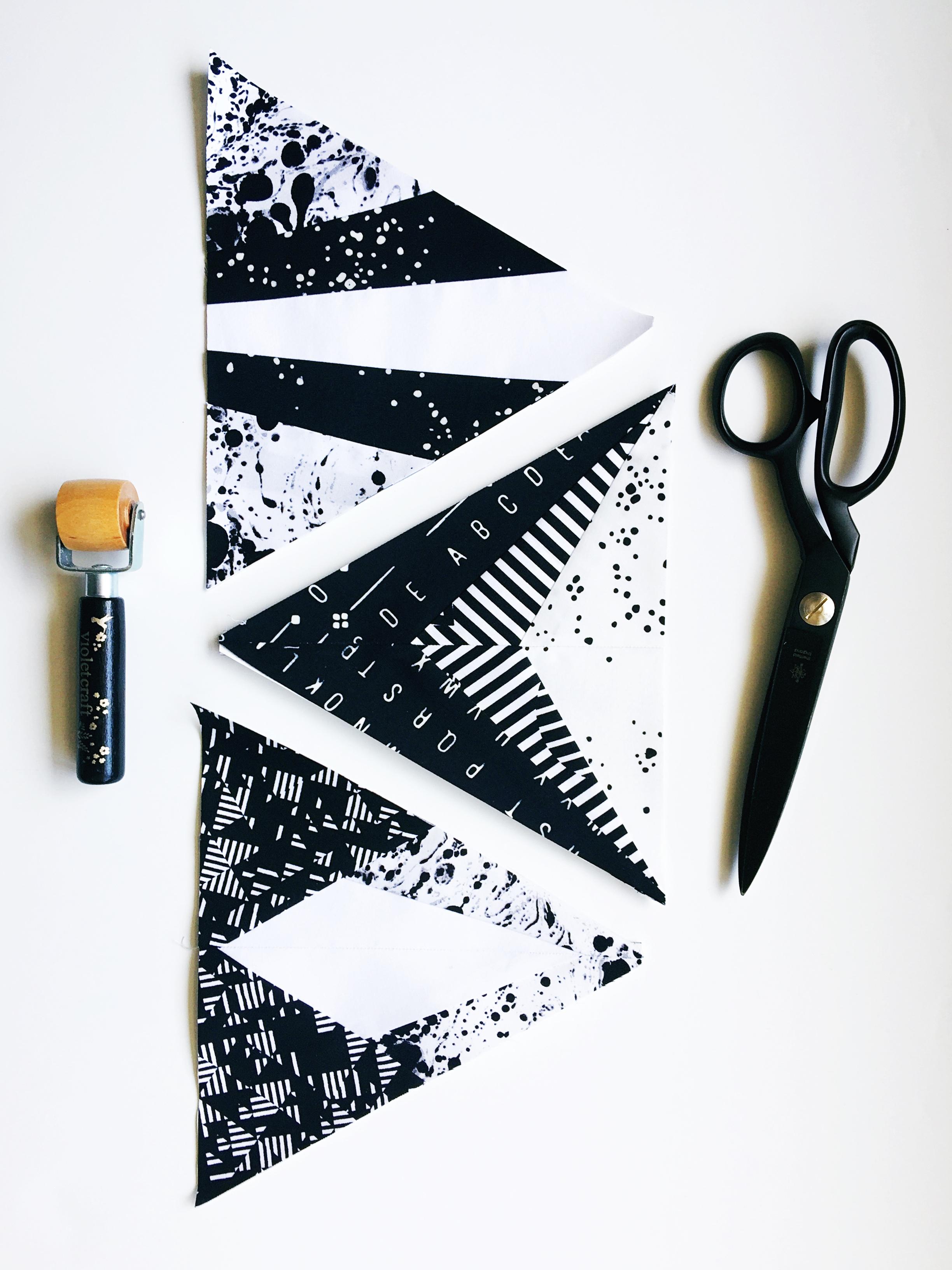 Modern Handcraft // Modern Triangle Quilts Blog Hop