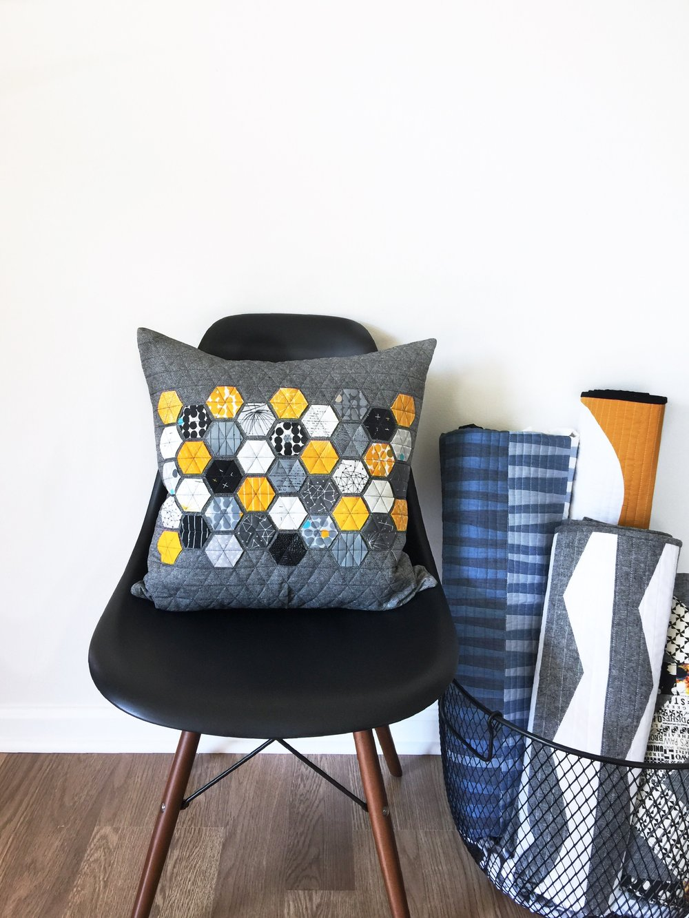 Modern Handcraft // Hexie pillow