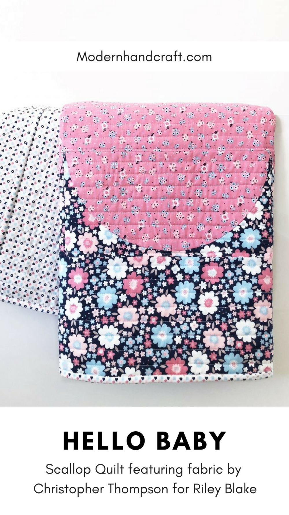Hello Baby // Scallop quilt by Modernhandcraft.com