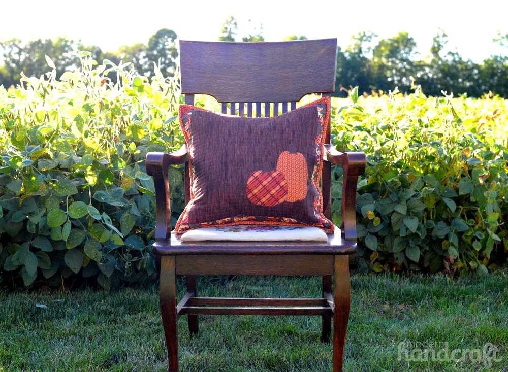 Autumn Pumpkin Pillow -