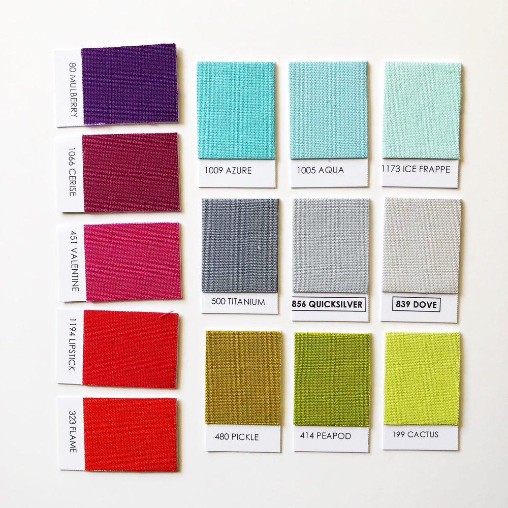 Rainbow Brights Palette - Mulberry / Cerise / Valentine / Lipstick / Flame / Azure / Aqua / Ice Frappe / Titanium / Quicksilver / Dove / Pickle / Peapod / Cactus