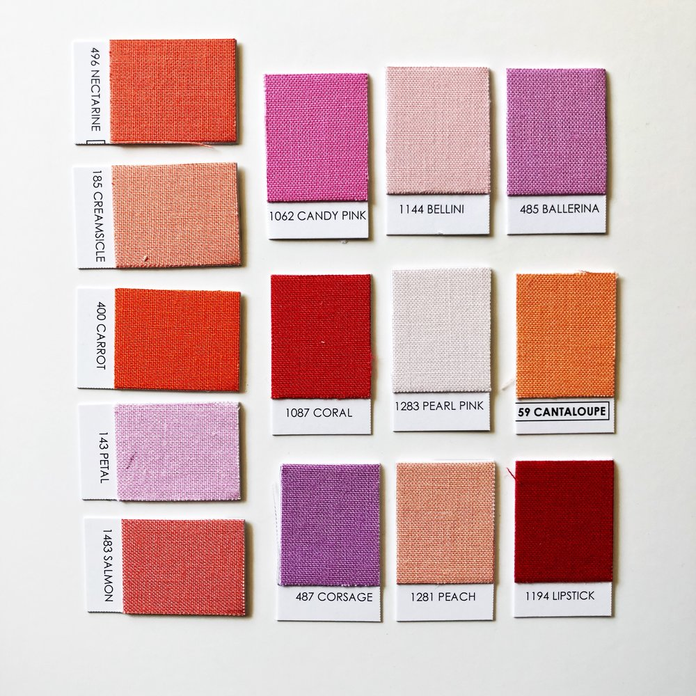 Lipstick Palette - Nectarine / Creamsicle / Carrot / Petal / Salmon / Candy Pink / Bellini / Ballerina / Coral / Pearl Pink / Cantaloupe / Corsage / Peach / Lipstick