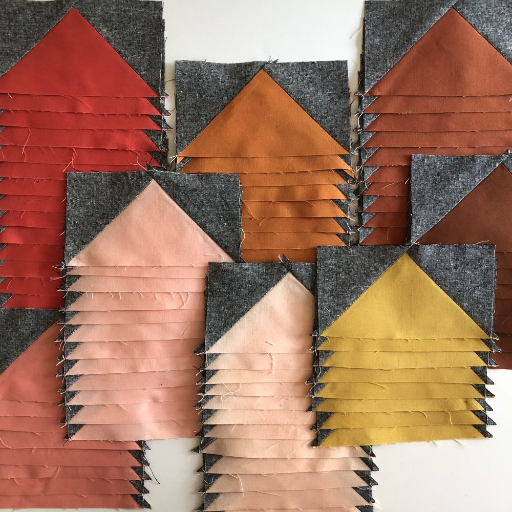 Modern Handcraft // Sideways Arrows Quilt