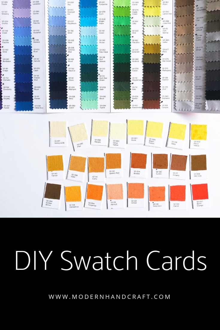 DIY Fabric Swatch Card // Modernhandcraft.com