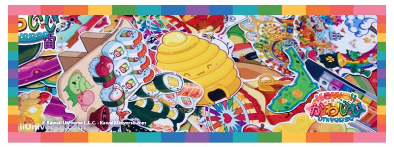 Kawaii U stickers -