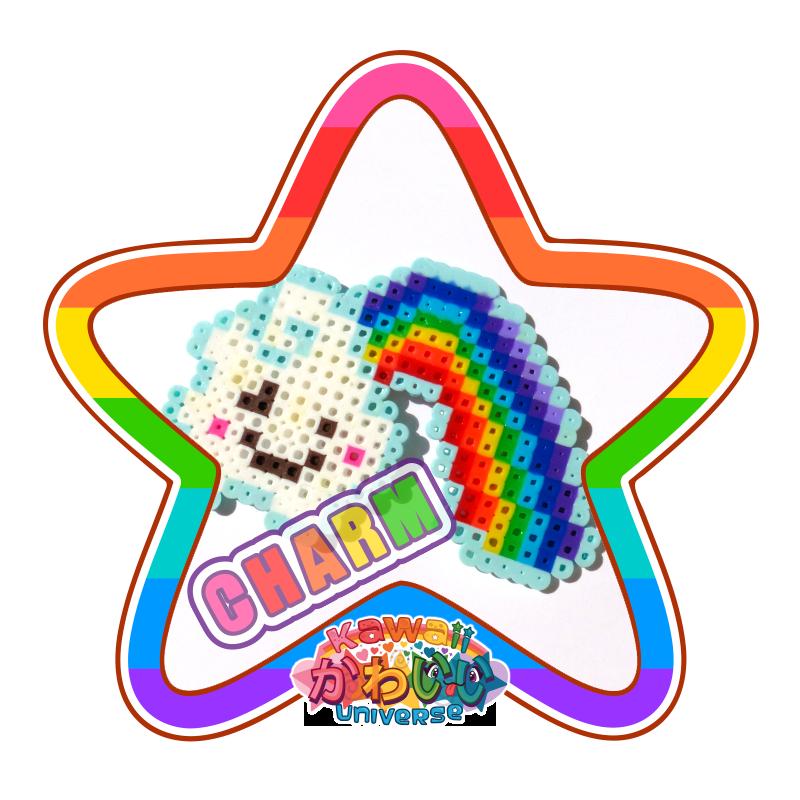 Kawaii Universe - Cute Cloud and Rainbow Macro Charm