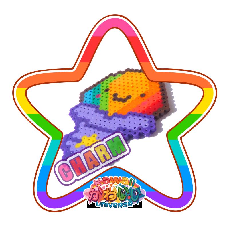 Kawaii Universe - Cute Rainbow Shaved Ice Macro Charm