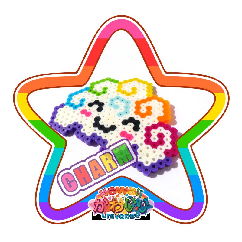 Kawaii Universe - Cute Rainbow Cloud Macro Charm