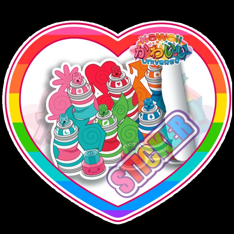 Kawaii Spray Paint Can Stickers — Kawaii Universe