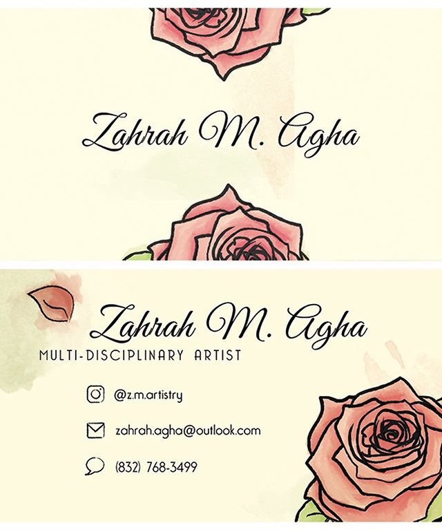 Some business cards I designed for a fellow artist! #vectordesign #blackgraphicdesigner #watercolor #illustrator