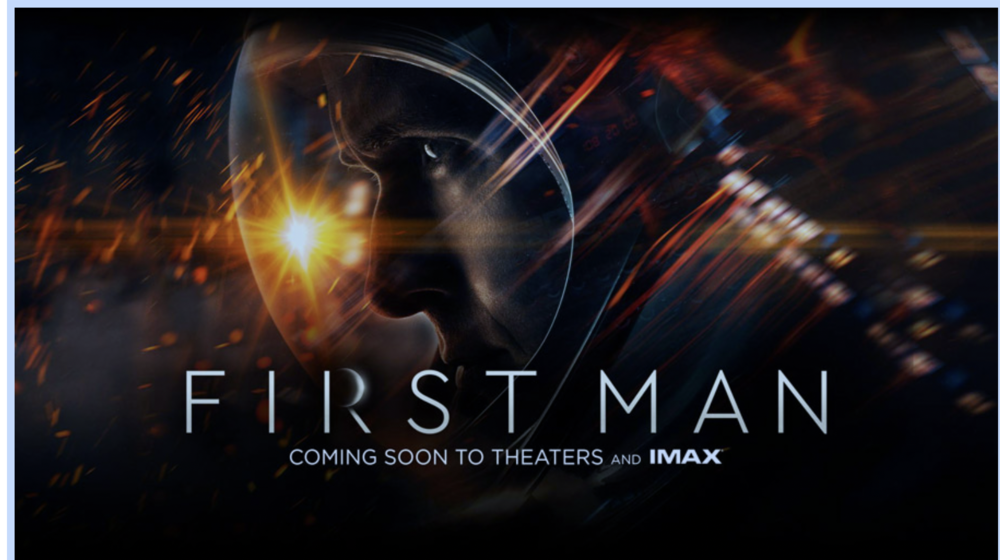 "The movie poster for ""First Man."""