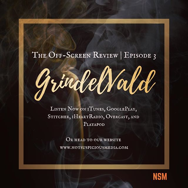 "New Episode from The Off-Screen Review: ""GrindelVald"" Check it out! #new #podcast #blogger #movie #film #wizard #harrypotter #fantasticbeasts #review #comedy #insta #instagram #holiday #mondaymotivation #radio #media #content #fun #itunes #googleplay #stitcher #iHeartRadio #magic"