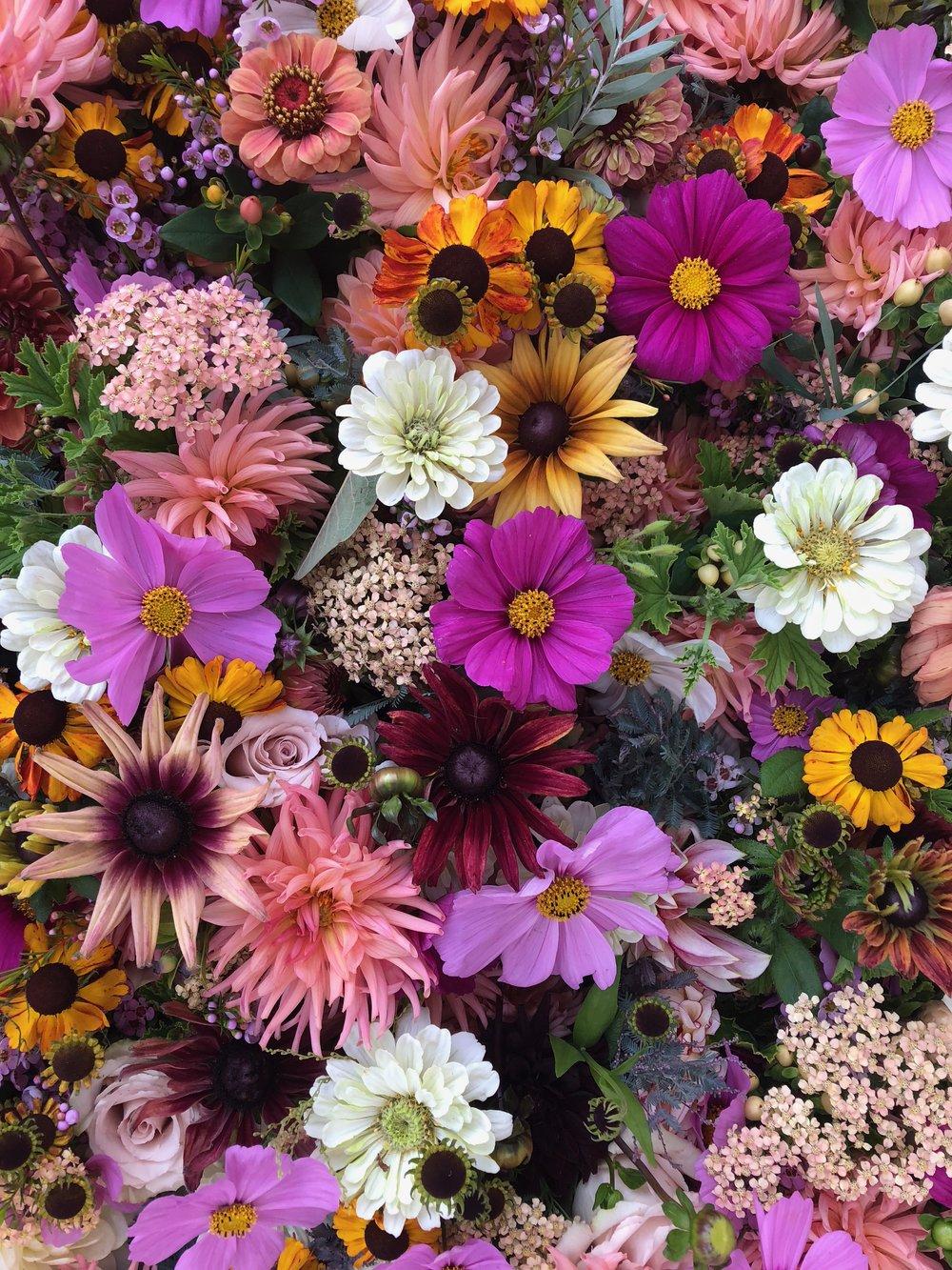 Seasonal Flower Wall