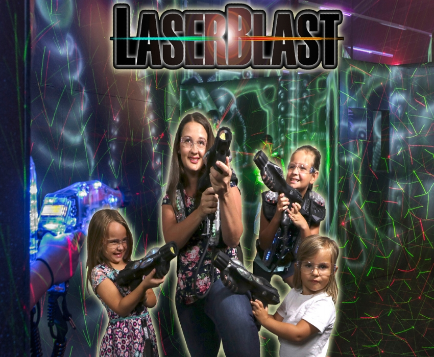 Add Laser Tag For ONLY $4 Per Person (All Ages) - Available at Both Locations!