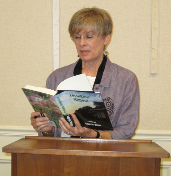 Valerie reading an excerpt from  Forsaking Mimosa