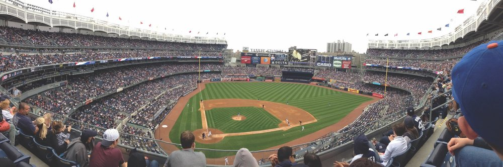 Boarding and Day Students Enjoying a Weekend Trip to Yankee Stadium in New York City